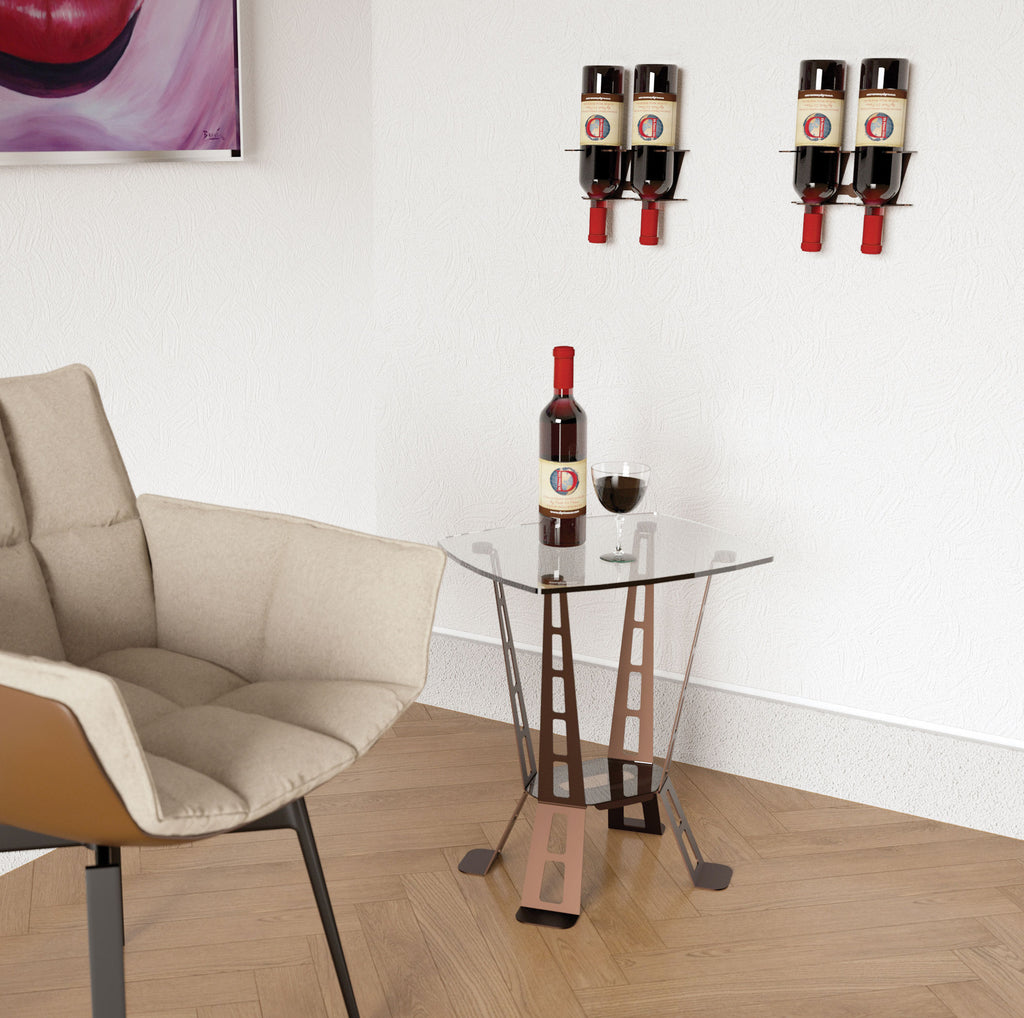 VERTICAL DESIGN 2 BOTTLE RACK