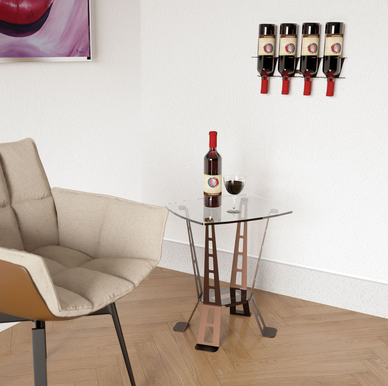 VERTICAL DESIGN 4 BOTTLE RACK