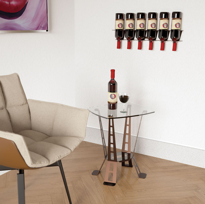 VERTICAL DESIGN 6 BOTTLE RACK