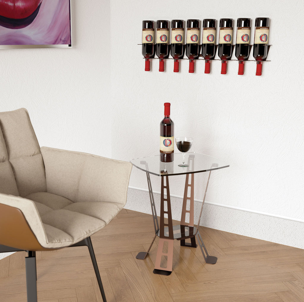 VERTICAL DESIGN 8 BOTTLE RACK