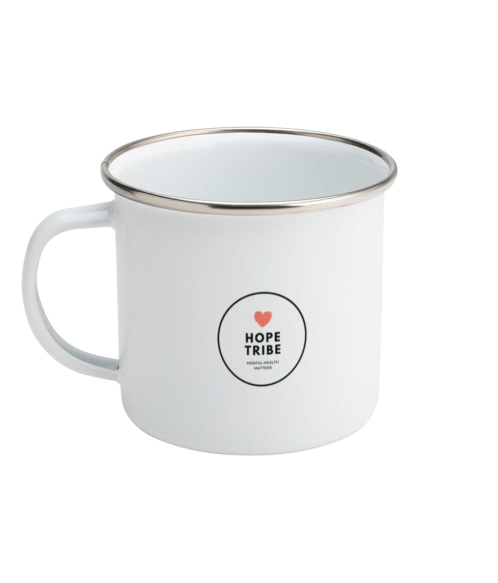 Mental Health Warrior Enamel Mug - Hope Tribe Mental Health