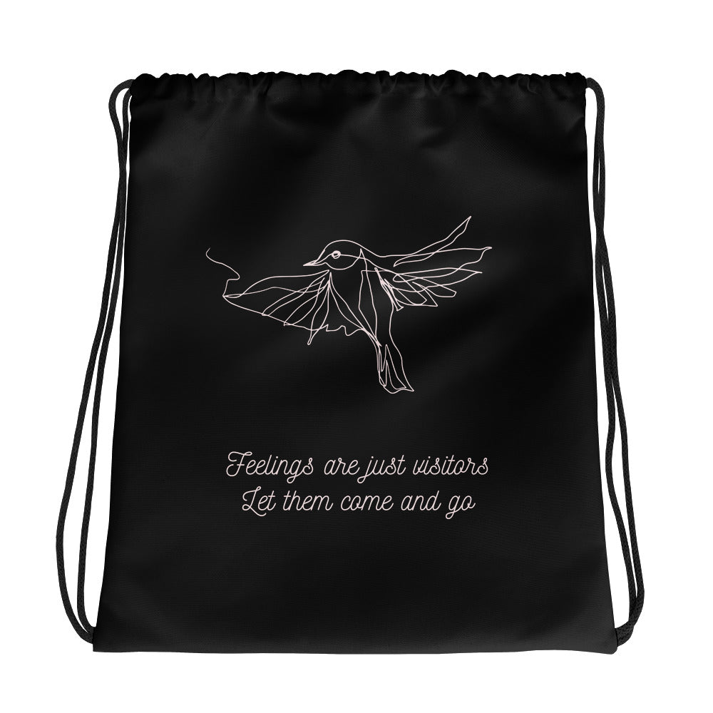 Feelings Are Visitors Gym Bag