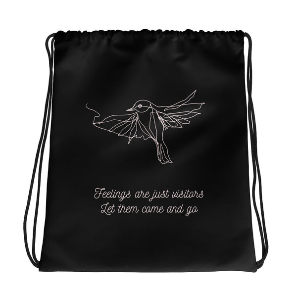Feelings are just visitors gym bag - Hope Tribe Mental health