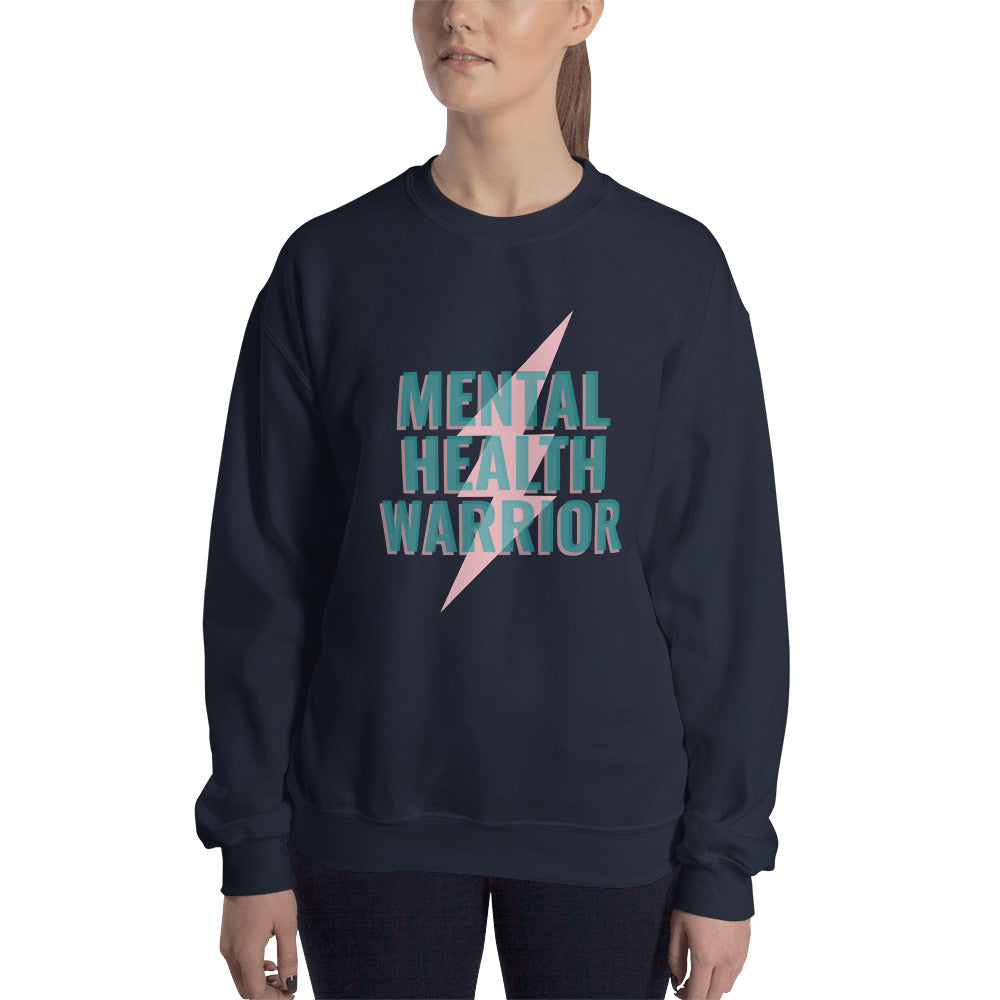 Mental Health Warrior Women's Sweatshirt Dark Blue - Hope Tribe Mental Health