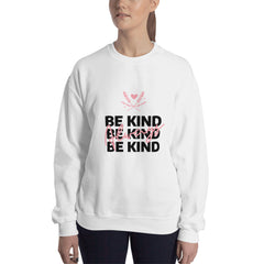 Be Kind Always Women's Sweatshirt White - Hope Tribe Mental Health
