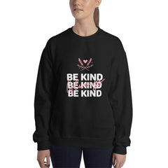 Be Kind Always Women's Sweatshirt Black - Hope Tribe Mental Health