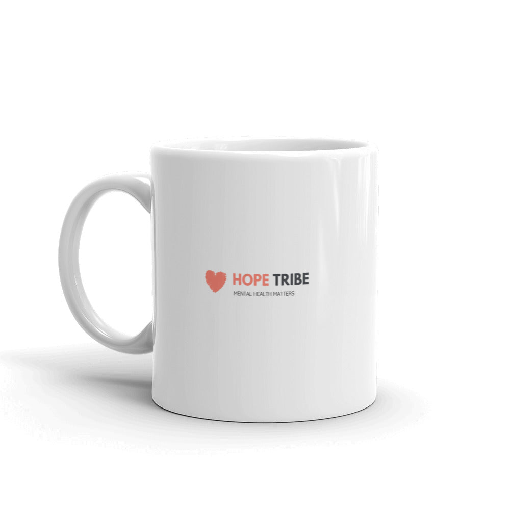 Be A Warrior Not a Worrier Mug - Hope Tribe Mental Health Apparel & Gifts
