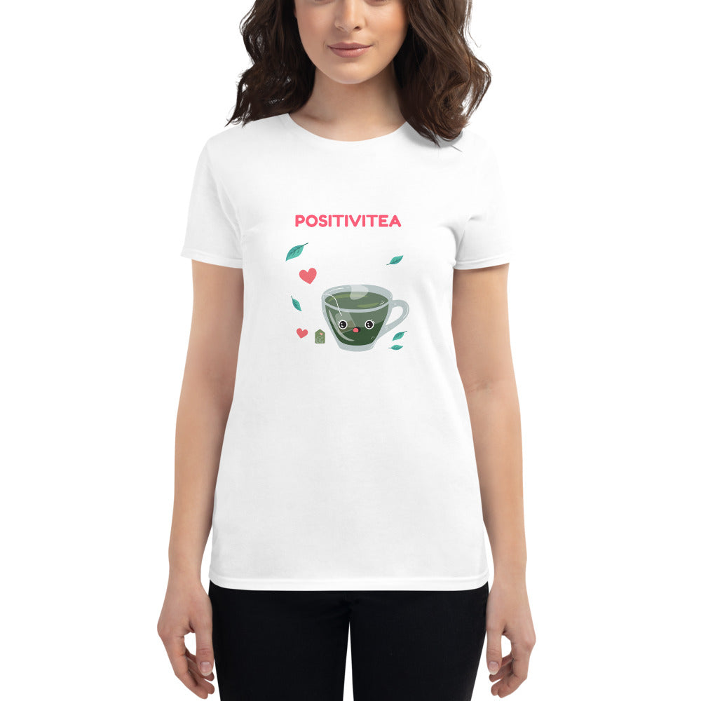 Positivitea Fitted T-Shirt