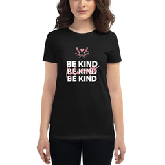 Be Kind Always Women's Fitted T-Shirt Black - Hope Tribe Mental Health