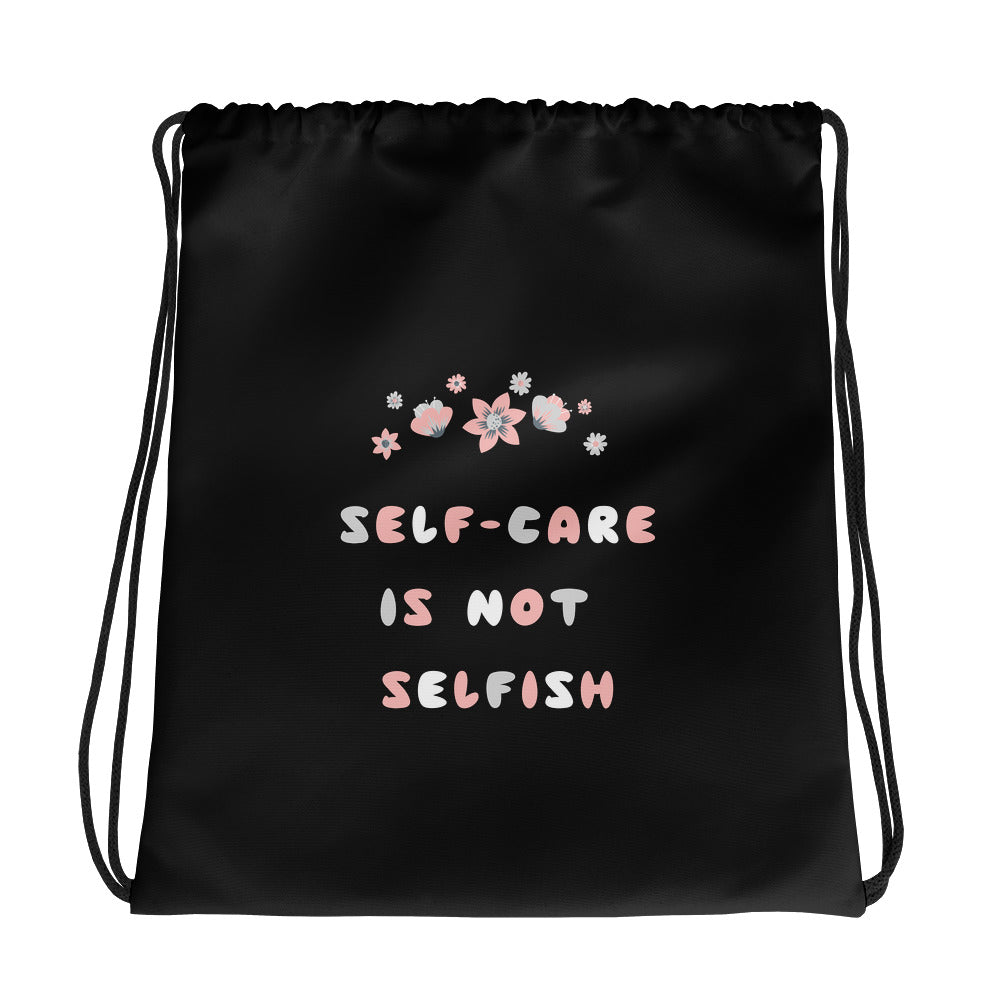 Self-Care Is Not Selfish Gym Bag - Hope Tribe Mental Health