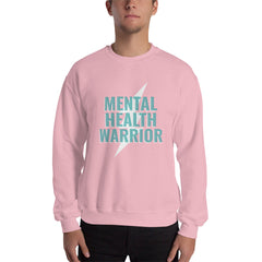 Mental Health Warrior Men's Sweatshirt Pink - Hope Tribe Mental Health