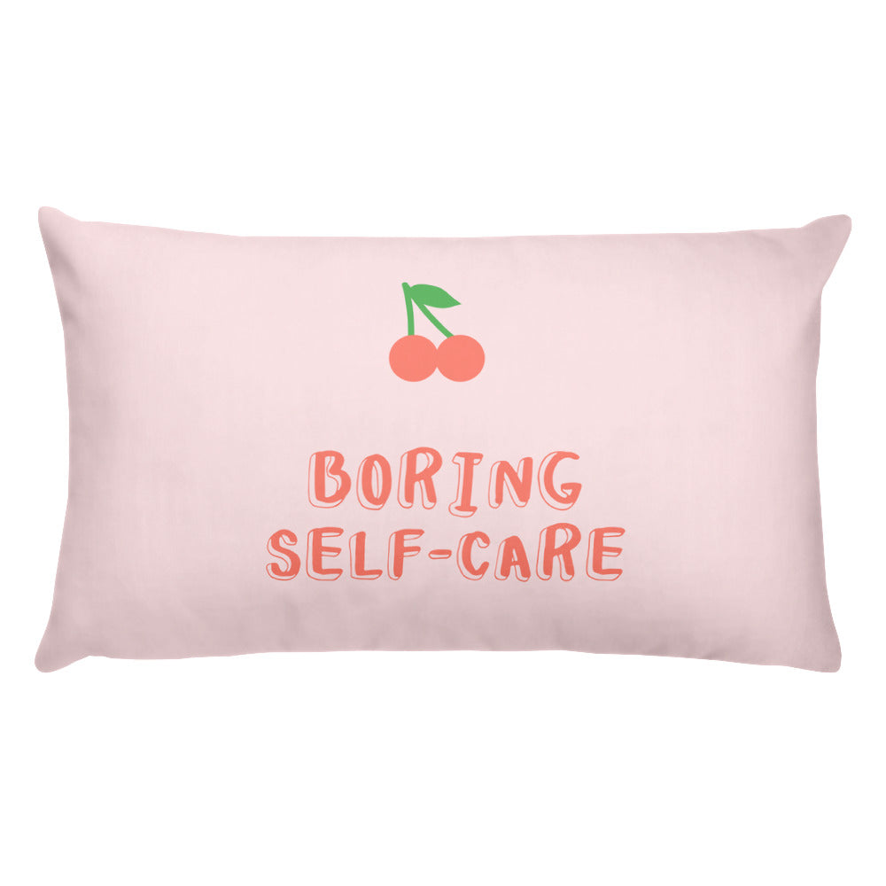 Boring Self-Care Pillow