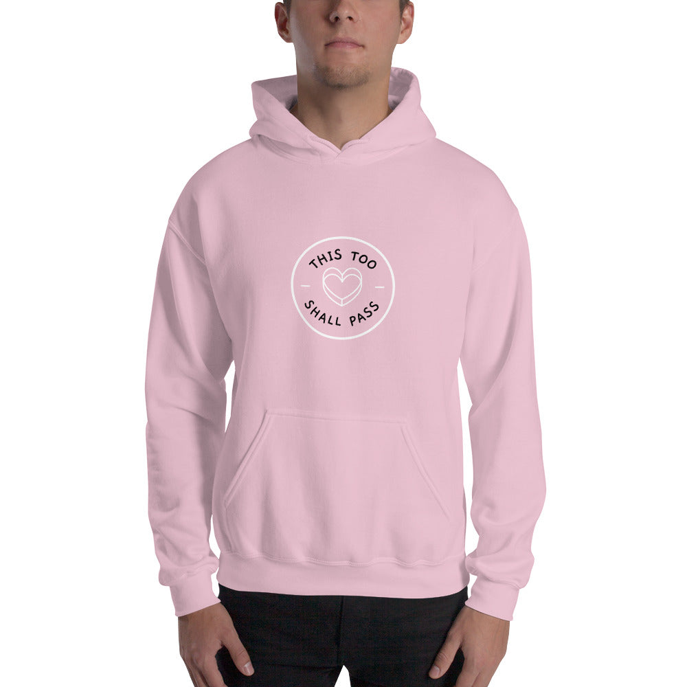 This Too Shall Pass Men's Hoodie Pink  - Hope Tribe Mental Health