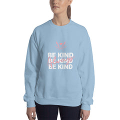 Be Kind Always Women's Sweatshirt Light Blue - Hope Tribe Mental Health