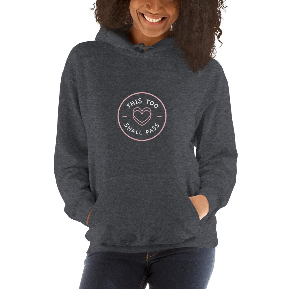This Too Shall Pass Women's Hoodie Dark Grey - Hope Tribe Mental Health