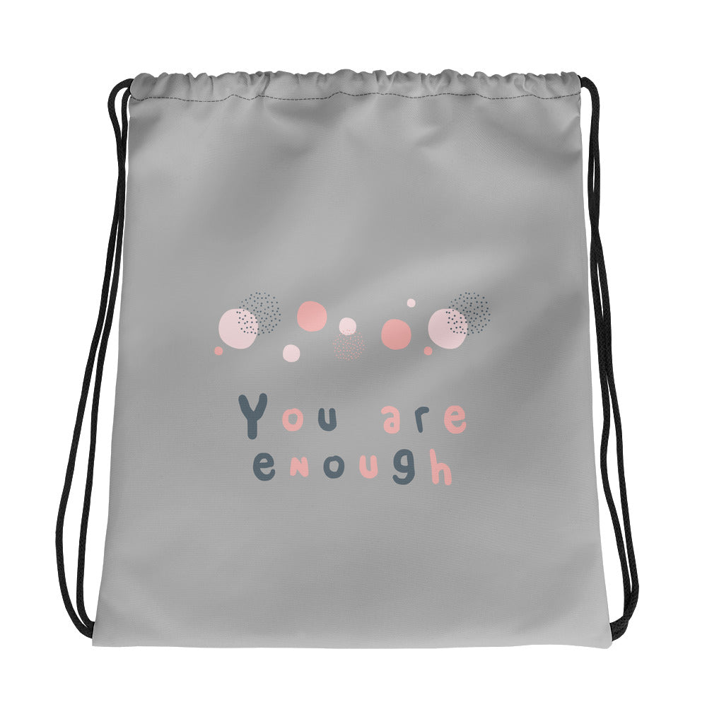 You Are Enough Drawstring Bag - Hope Tribe Mental Health