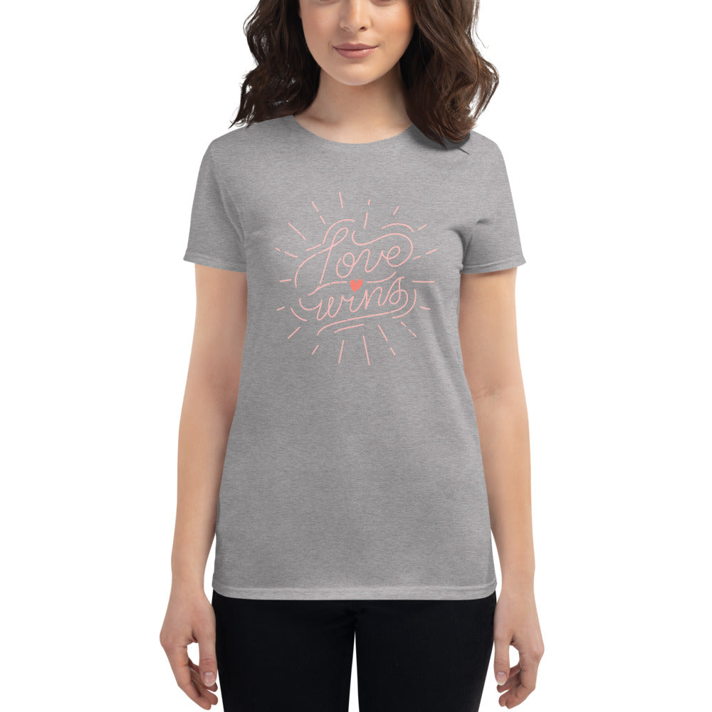 Love Wins Fitted T-Shirt