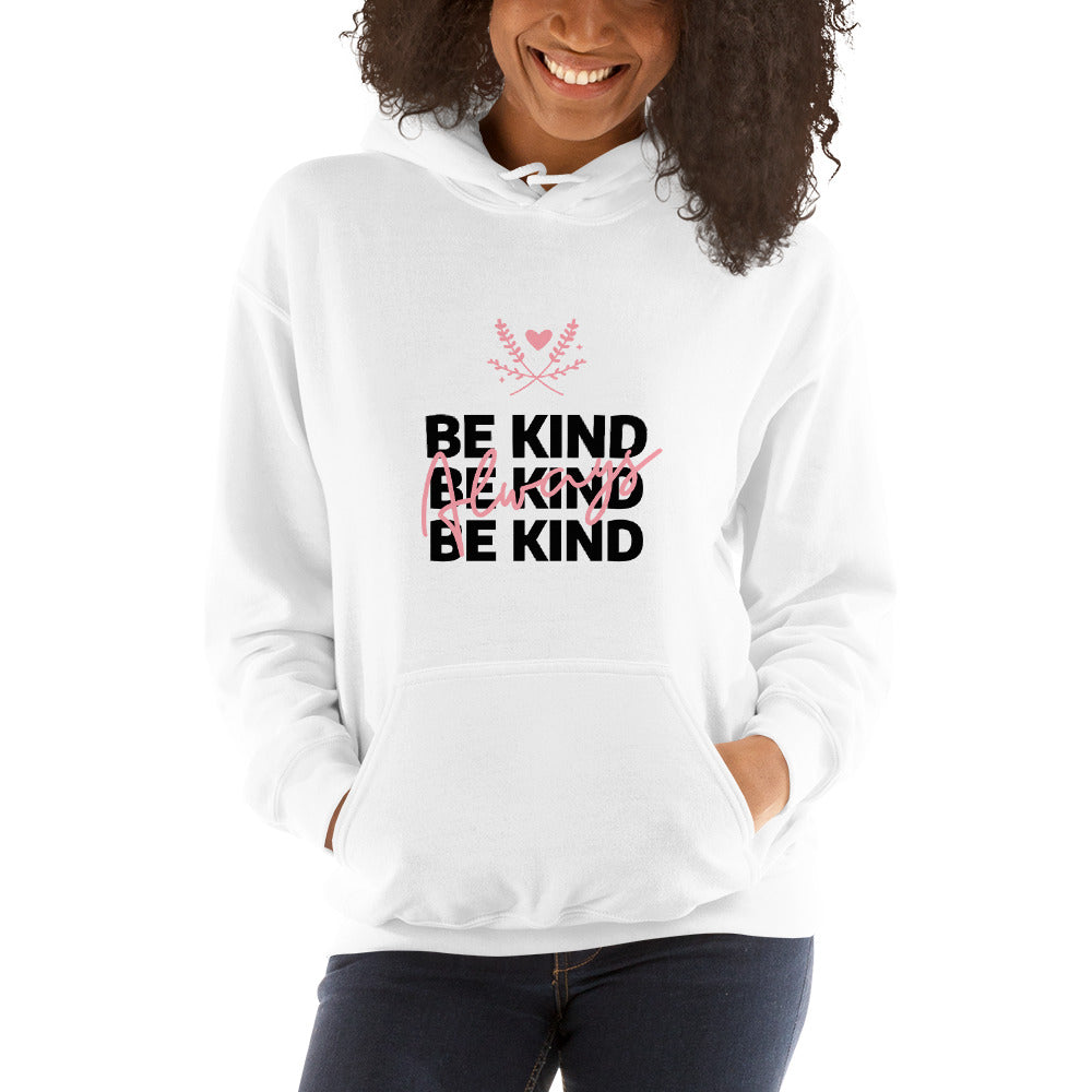 Be Kind Always Women's Hoodie White - Hope Tribe Mental Health