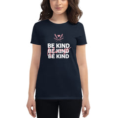 Be Kind Always Women's Fitted T-Shirt Navy Blue - Hope Tribe Mental Health