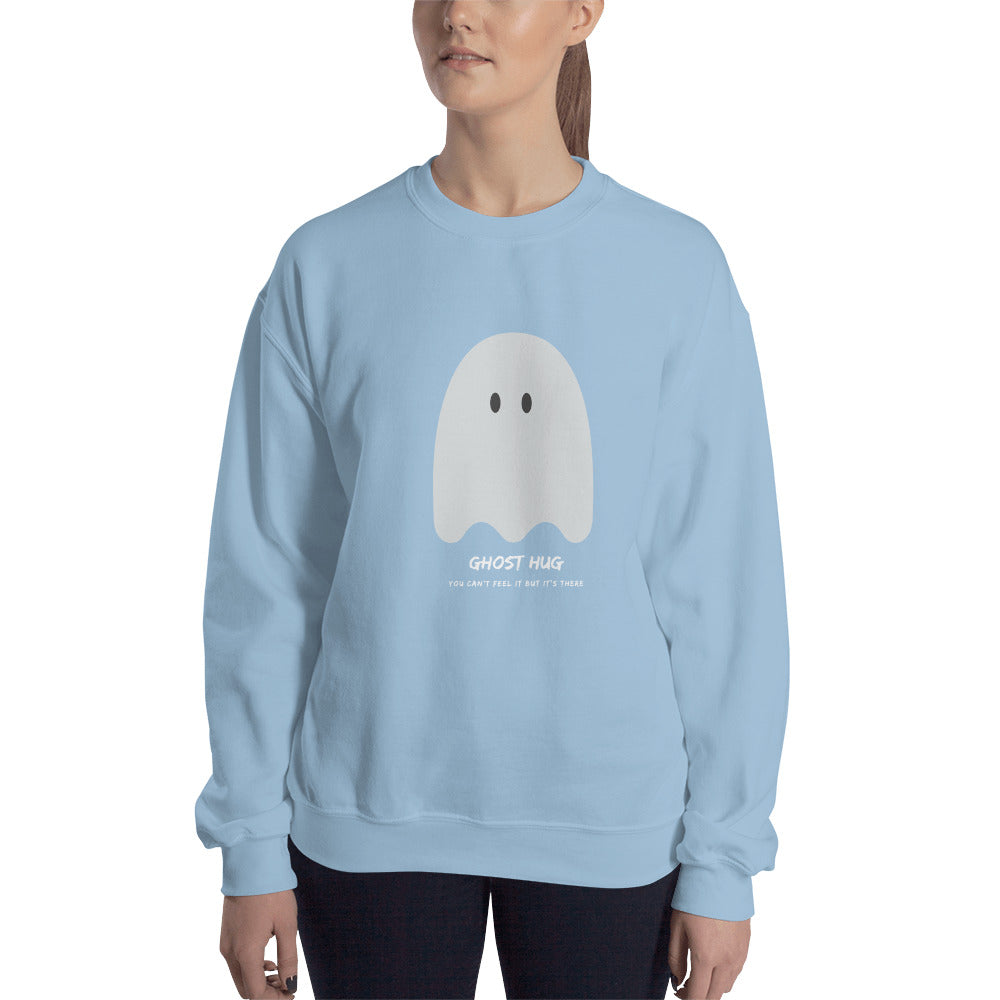 Ghost Hug Women's Sweatshirt Light Blue  - Hope Tribe Mental Health