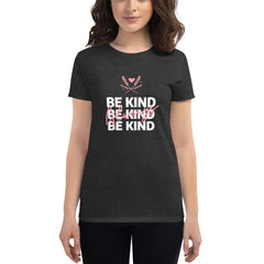 Be Kind Always Women's Fitted T-Shirt Dark Grey - Hope Tribe Mental Health