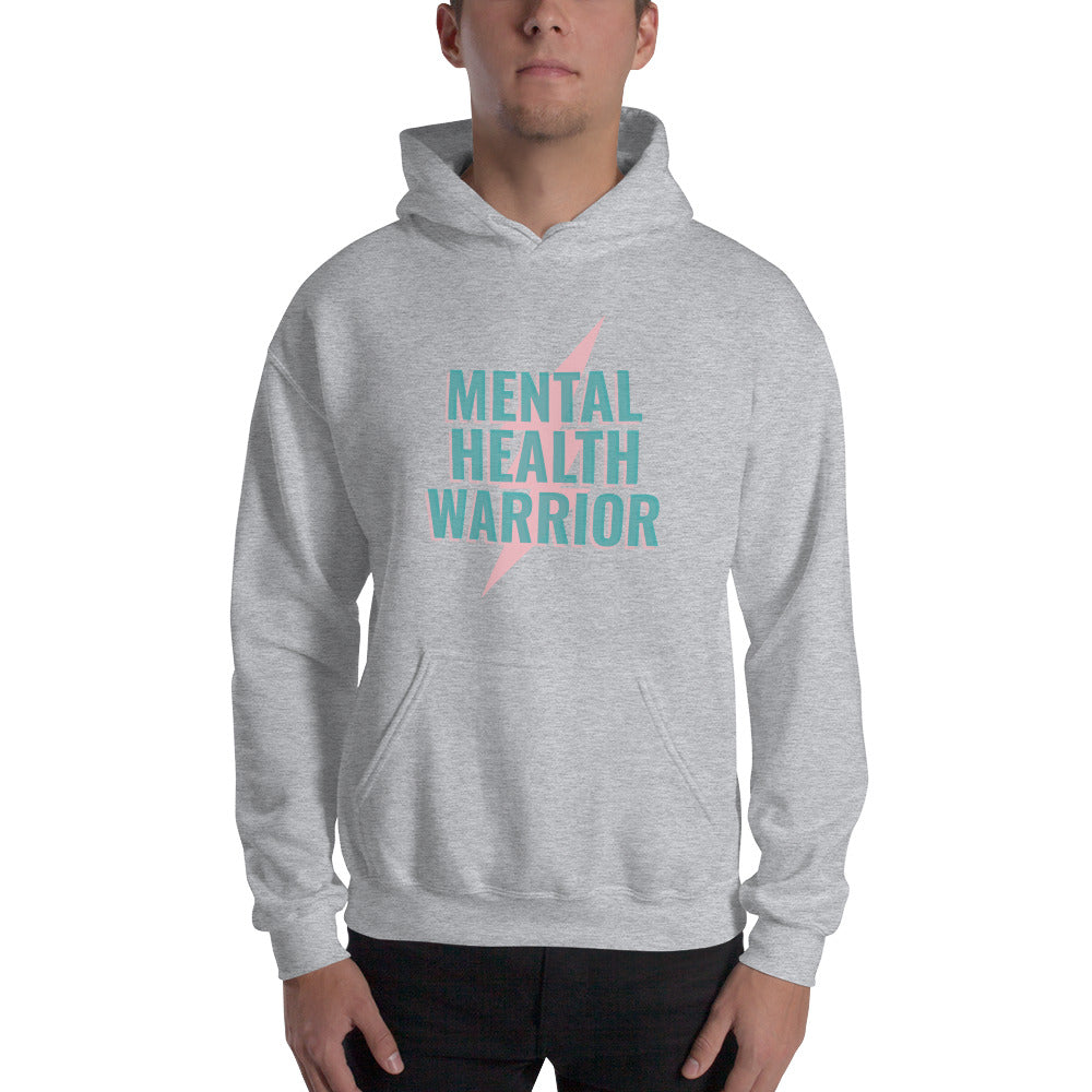 Mental Health Warrior Men's Hoodie Grey - Hope Tribe Mental Health