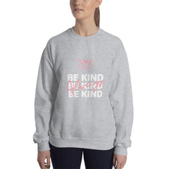 Be Kind Always Women's Sweatshirt Grey - Hope Tribe Mental Health