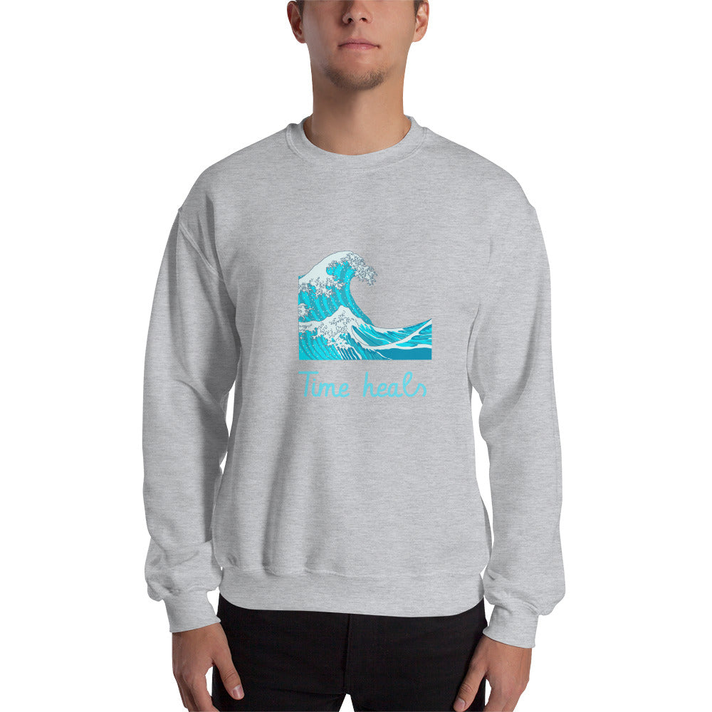 Time Heals Sweatshirt - Mental Health Support Apparel
