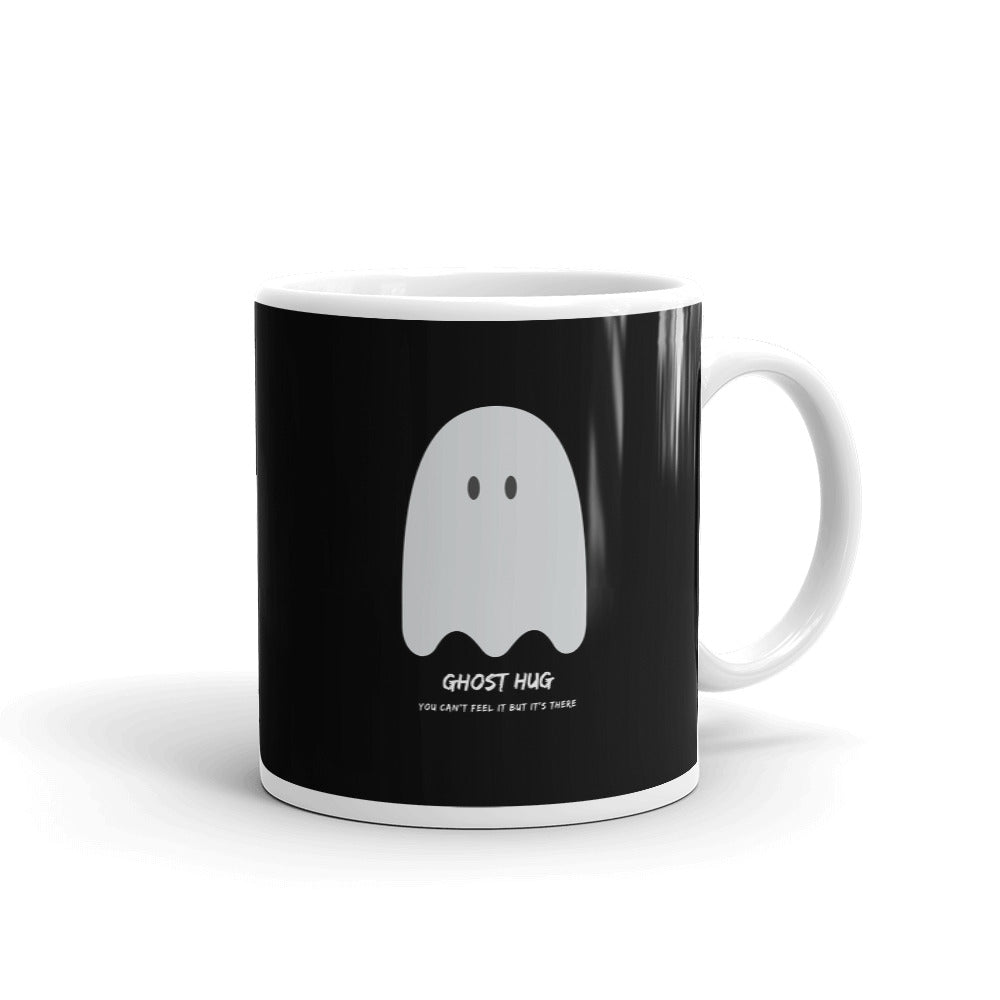 Ghost Hug Black Mug