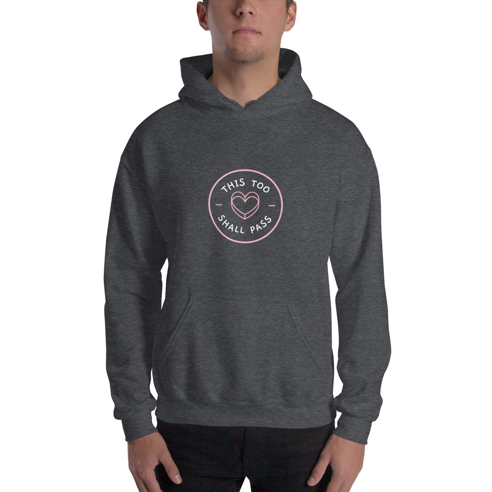 This Too Shall Pass Men's Hoodie Dark Grey- Hope Tribe Mental Health