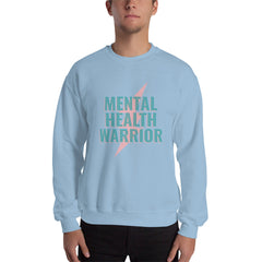 Mental Health Warrior Men's Sweatshirt Light Blue - Hope Tribe Mental Health
