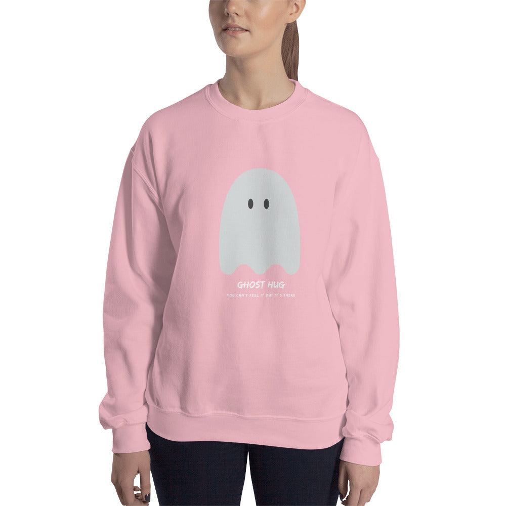 Ghost Hug Women's Sweatshirt Pink - Hope Tribe Mental Health