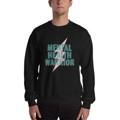 Mental Health Warrior Men's Sweatshirt Black - Hope Tribe Mental Health