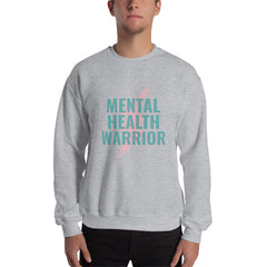 Mental Health Warrior Men's Sweatshirt Light Grey - Hope Tribe Mental Health