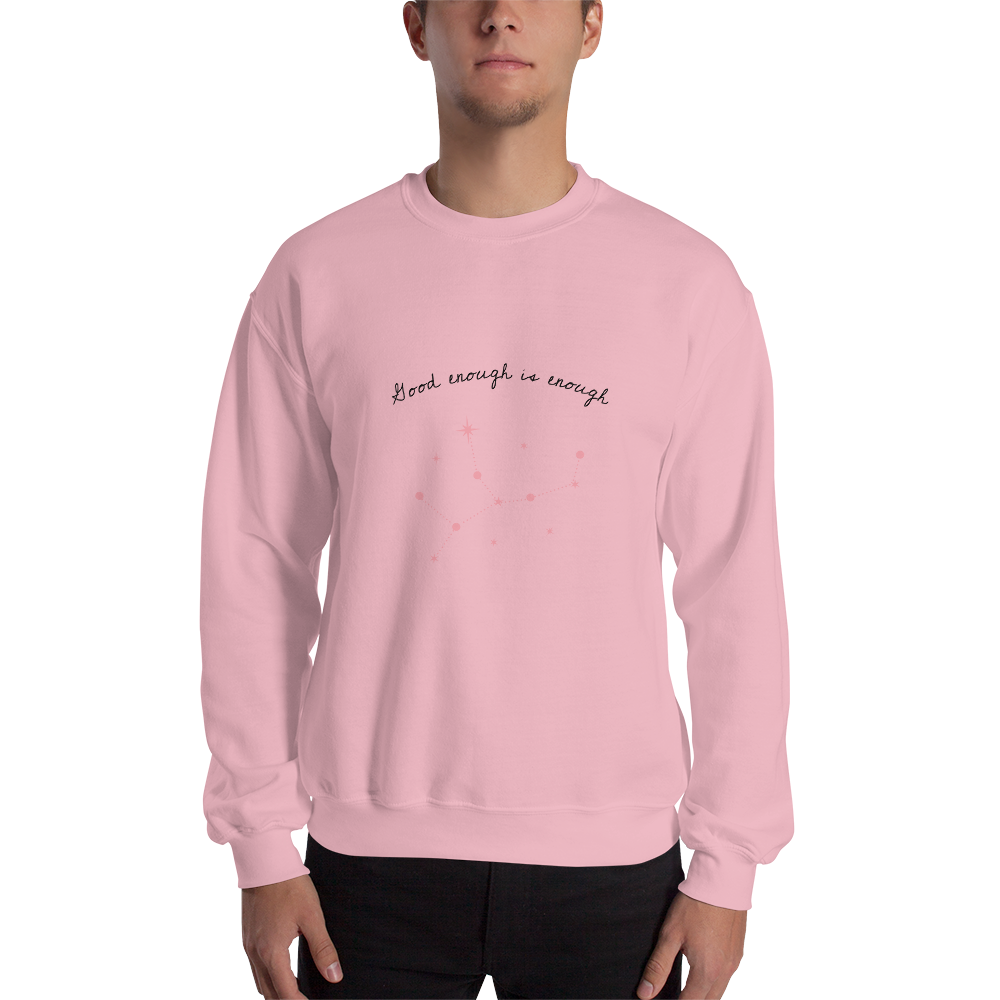 Good Enough Is Enough Men's Sweatshirt Pink - Hope Tribe Mental Health