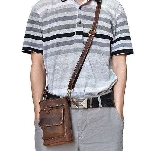 Genuine Leather Messenger Shoulder Satchel