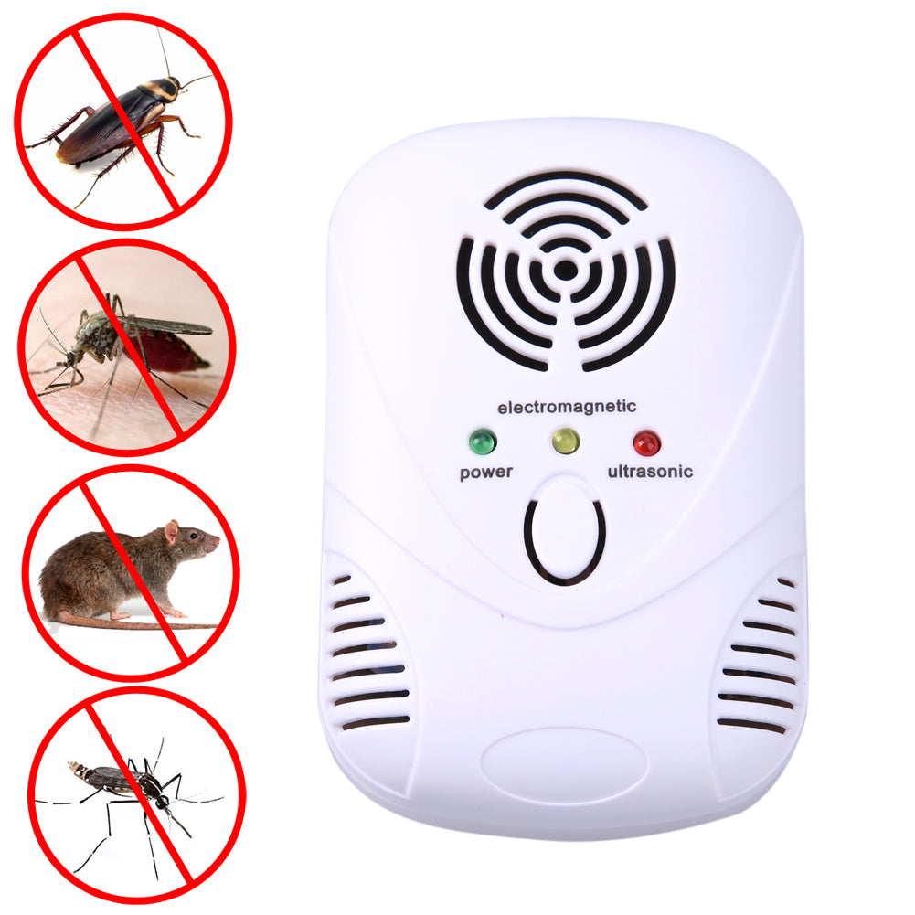 110-250V/6W Electronic Ultrasonic Mouse Killer Mouse Cockroach Trap Mosquito Repeller Insect Rats Spiders Control US/EU Plug