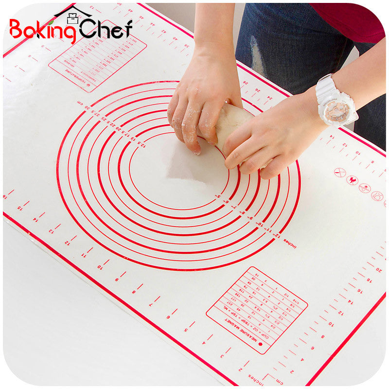BAKINGCHEF Silicone Baking Mat Pizza Dough Maker Pastry Kitchen Gadgets Cooking Tools Utensils Bakeware Accessories Supplies Lot