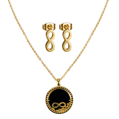 Gold Plated Infinity Charms Necklace Sets