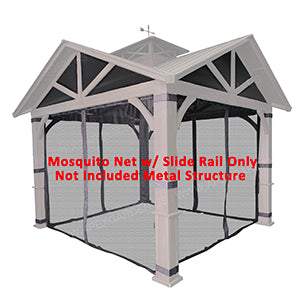 APEX GARDEN Replacement Mosquito Netting with Slider Rail for Allen + roth Model #GF-18S112B (Screen NET ONLY) - APEX GARDEN US