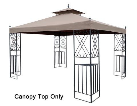 APEX GARDEN Replacement Canopy Top for 10'x12' Monterey Gazebo #L-GZ288PST-4H / L-GZ288PST-4D - APEX GARDEN US