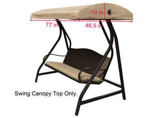 ALISUN Canopy Top for Lowe's Garden Treasures Porch Swing Model #GCS00229C - APEX GARDEN US