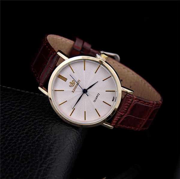 Top Business Leather luxury Watch High Quality