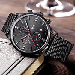 Stainless Steel Sport Watch Men's Wrist Watches Clock Men