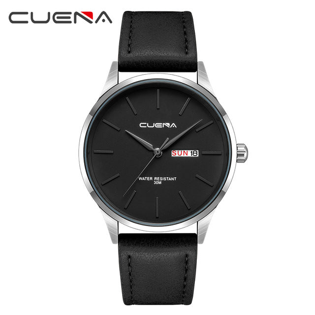 Waterproof Men's Leather Strap Luxury Brand  Wrist Watch