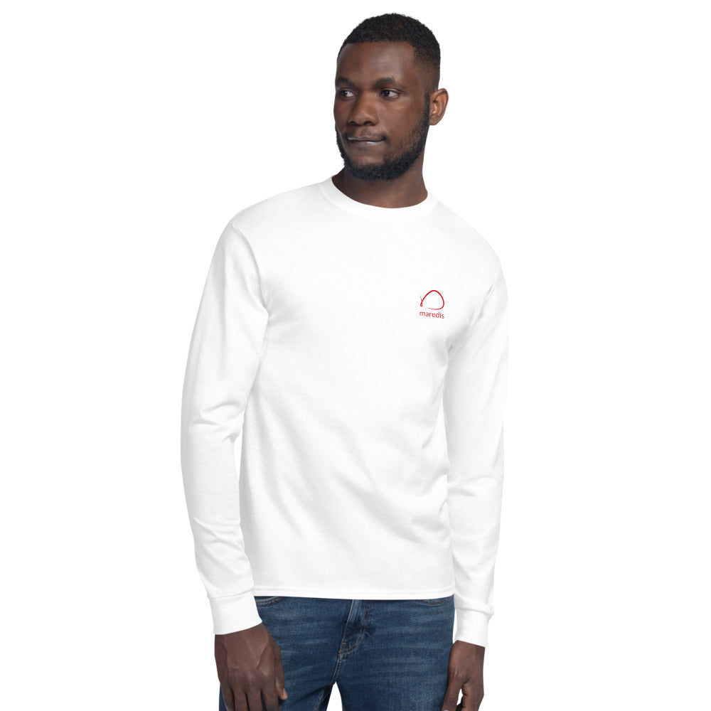 Men's White Maredis X Champion Long Sleeve Shirt