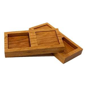 Double Appetizer/Dipping Tray (available in Maple or Cherry)