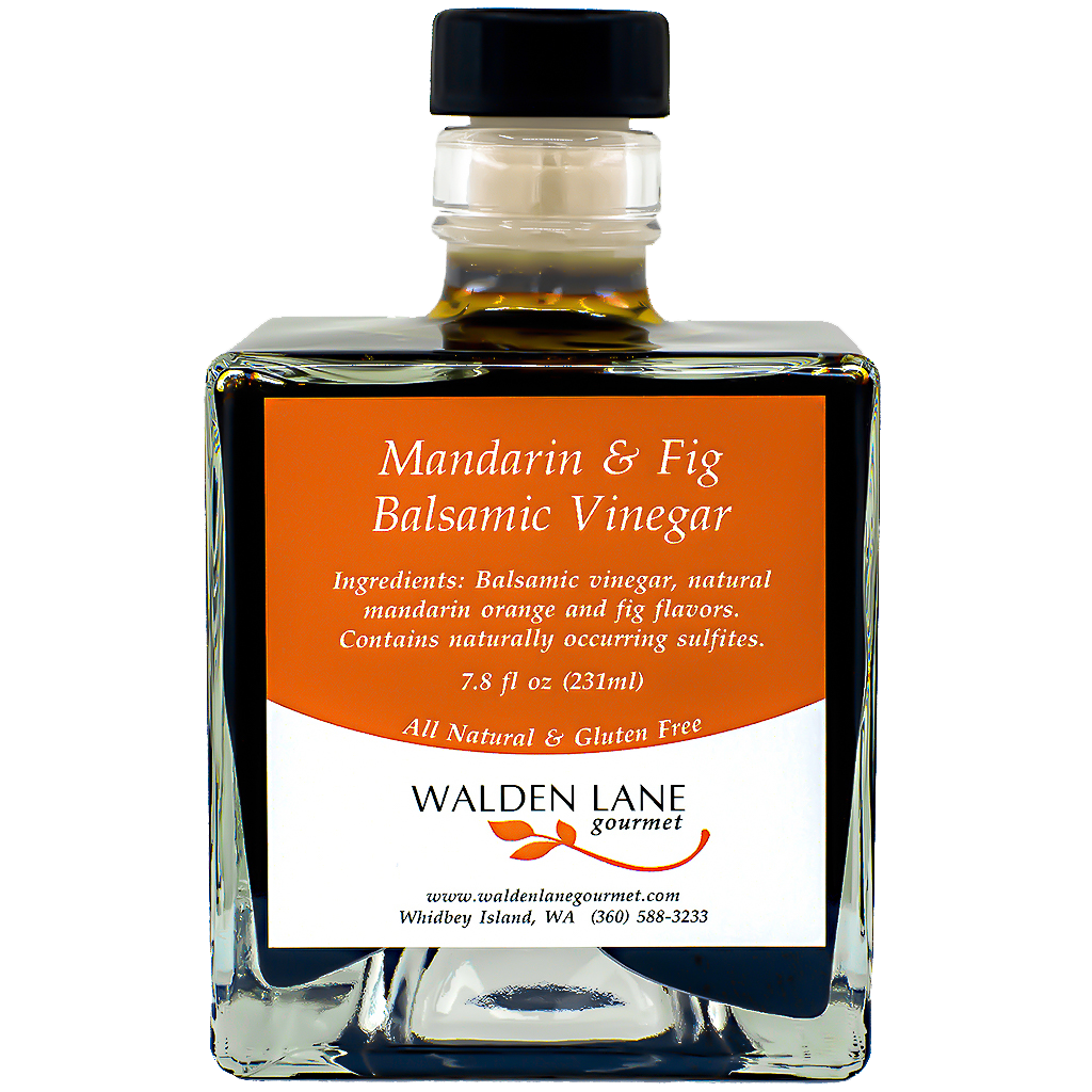 Walden Lane Gourmet Mandarin & Fig Balsamic Vinegar Signature Bottle