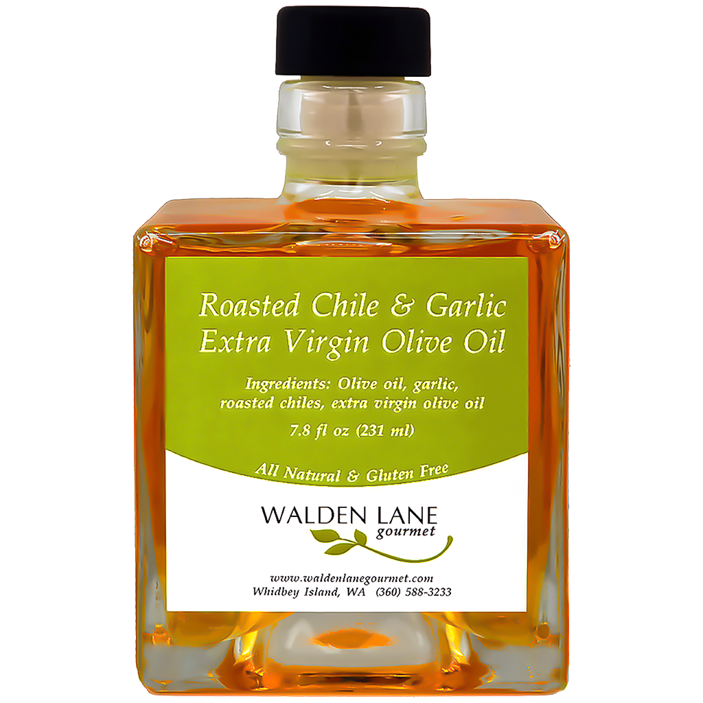 Walden Lane Gourmet Roasted Chile & Garlic Extra Virgin Olive Oil Signature Bottle