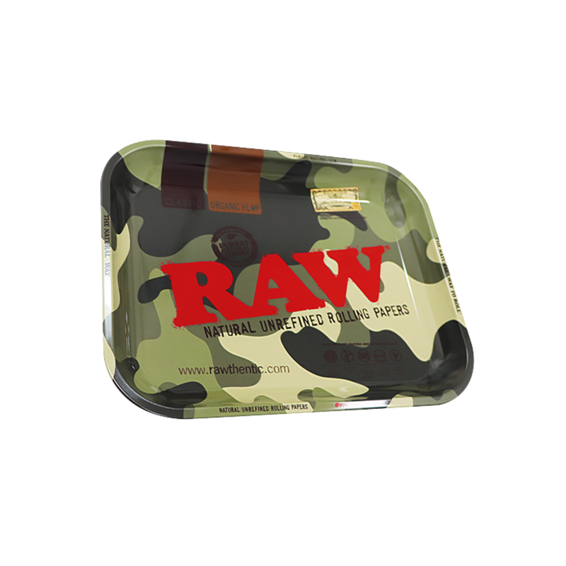 RAW Rolling Tray Camouflage - The Green Box